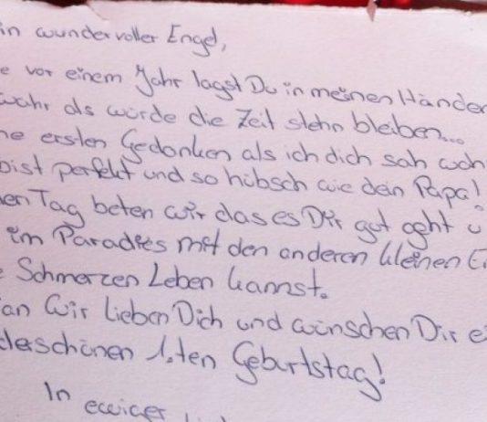 Brief einer Mama an ihr Sternenkind