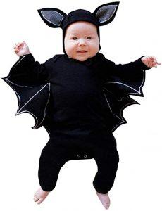 Fledermauskostüm Baby für die Halloweenparty für Kinder
