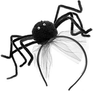 Haarreifen mit riesiger Spinne für Halloween