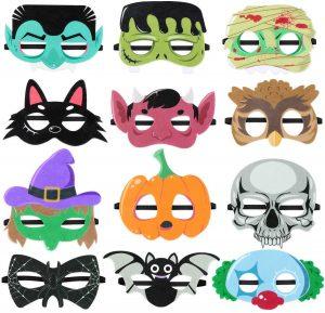 Gruselige Masken: Perfekt für die Halloweenparty für Kinder