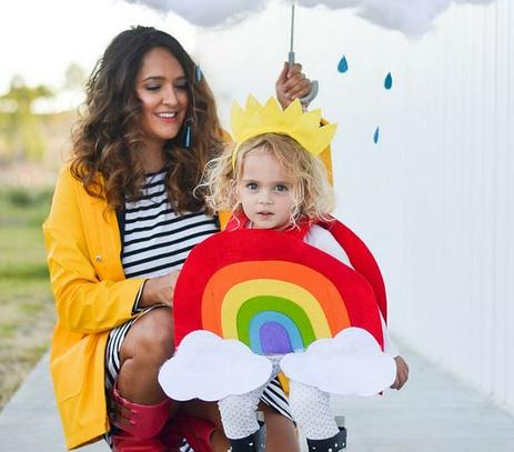 Witzige Kostüme für Mama und Baby