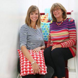 Designerin Graziela Preise und Tochter Nina