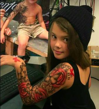 Kind mit Tattoo