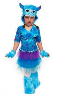 Faschingskostüme für Kinder - Ideen für Mädchen: Monstergirl