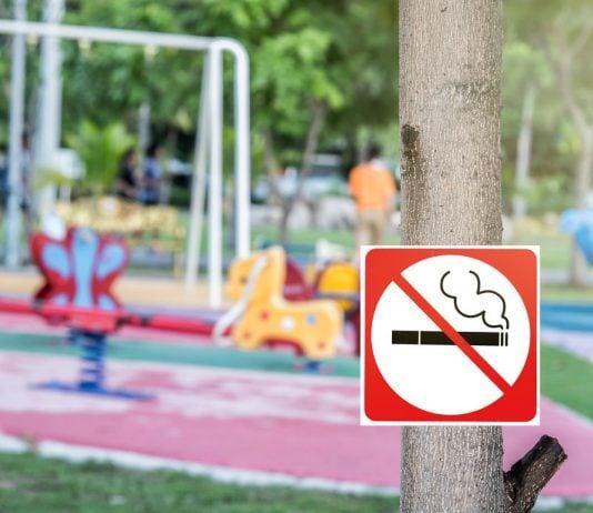rauchfreie Zone auf dem Spielplatz