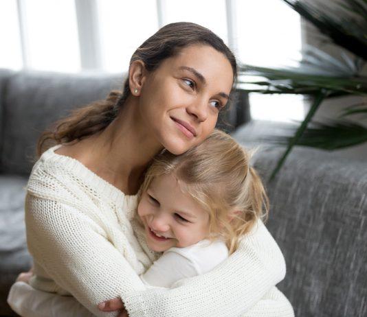 Alleinerziehende Mutter