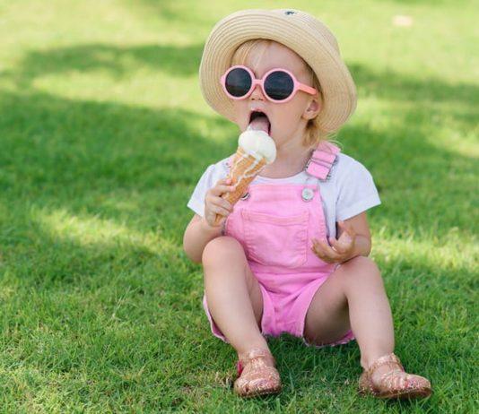 Mädchen Sommer Eis