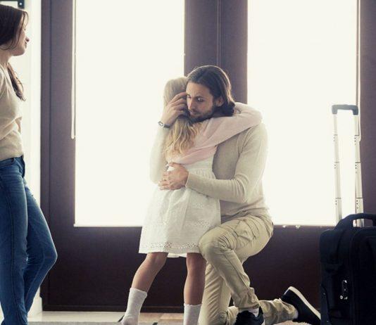 Fernbeziehung mit Kind: Abschied von Papa