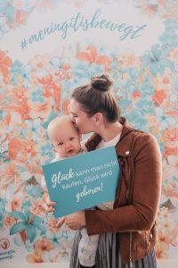 """Bloggerin mit Baby beim """"Meningitis bewegt."""" Lunch Talk"""