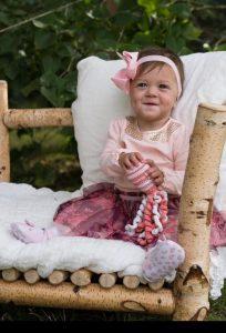 Frühchen Alina an ihrem 1. Geburtstag