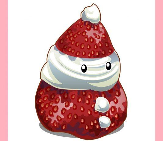 Weihnachts-Snacks für Kinder: Erdbeer-Weihnachtsmänner