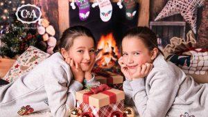 Mädchen in Weihnachtsfest-Sweatshirt von C&A