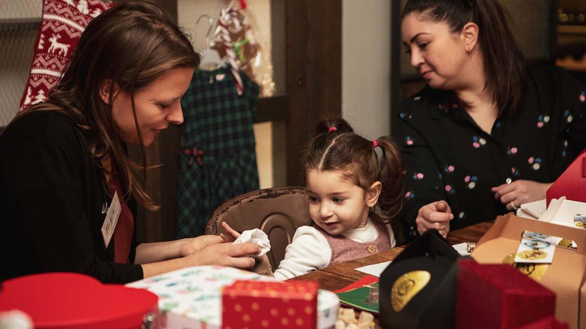 Kinderbetreuung Weihnachtsevent C&A und Echte Mamas