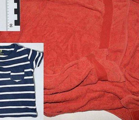 Wo ist die Mutter des ausgesetzten Babys? Polizei Stade sucht mit einem Foto des Handtuchs und des Oberteils nach Hinweisen