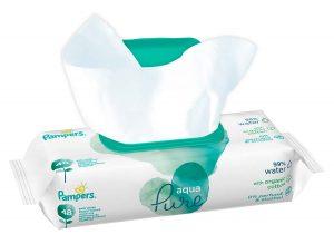 Pampers Aqua Pure Feuchttücher werden von 93% der Hebammen empfohlen