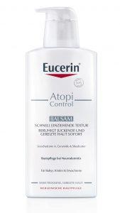 """Der neue """"AtopiControl"""" Balsam für trockene Haut und Neurodermitis."""