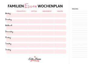 Was gibt es wann zu essen? Das kannst du von nun an perfekt planen, mit unserem Wochenplan!