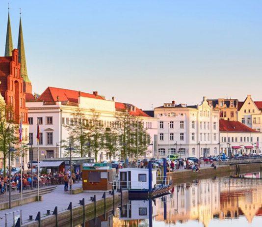 Lübeck und die Trave.