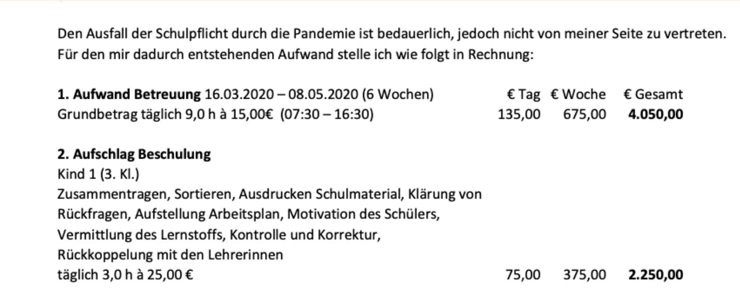 Die Gehalts-Rechnung von Karin Hartmann.