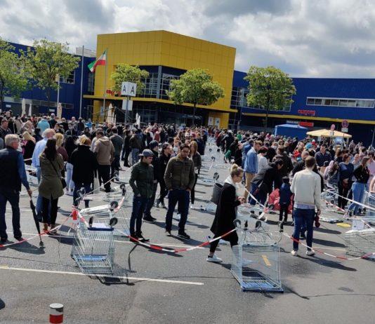 Riesenschlange bei IKEA