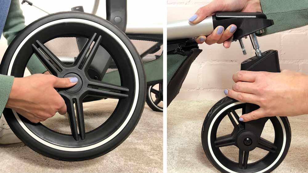 Klick, klick, fertig: Schon sind die Reifen dran am Day+.
