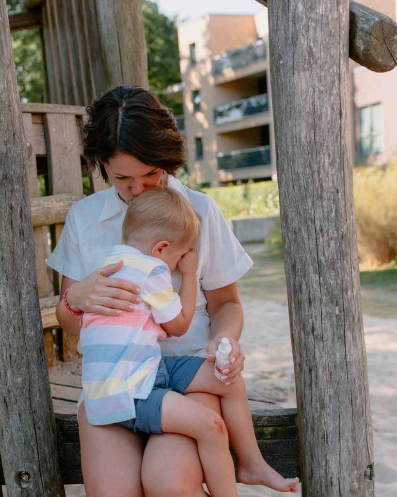 Das Wichtigste was unsere kleinen Verletzten brauchen: unsere Nähe und Liebe.