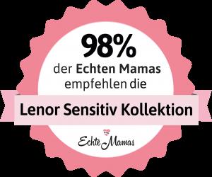 Wow! 98% sind so überzeugt von der neuen Lenor Sensitiv Kollektion, dass sie sie weiterempfehlen!