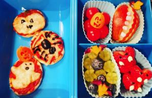 Dinkelpizzen als Halloween Snack