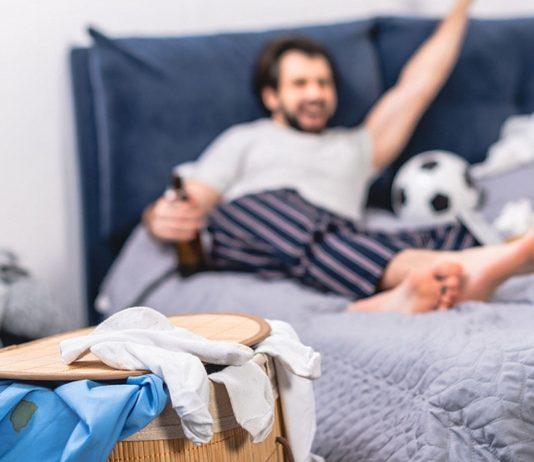 Männe allein zu Haus: Ordentlicher wird es dadurch nicht....