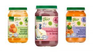 Von EDEKA gibt es jetzt Bio-Babybrei in 25 verschiedenen Sorten.
