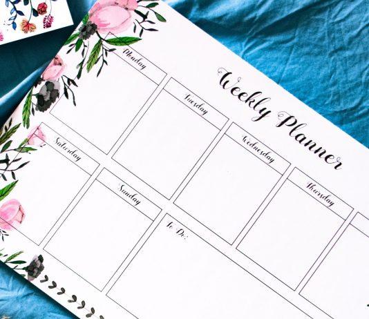 Vorlage und Einkaufsliste Wochenplan Essen Kinder und Familie