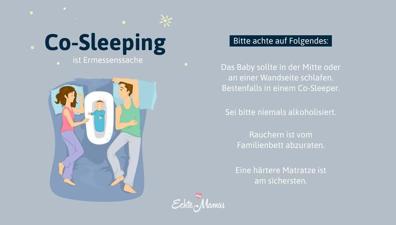 Familienbett darauf ist beim Co-Sleeping zu achten