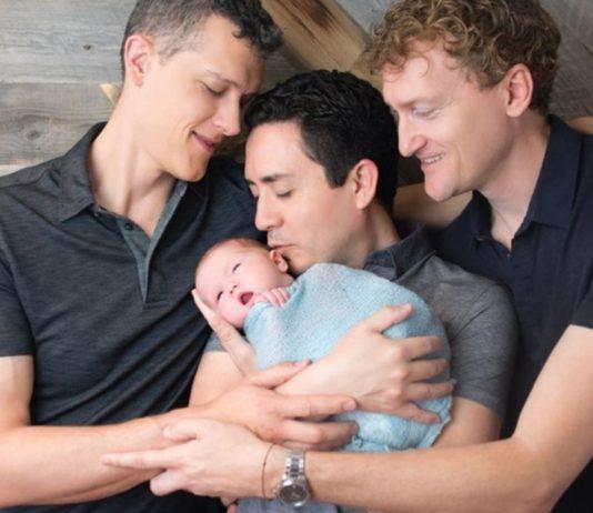 Ian, Alan und Jeremy sind glücklich, dass sie Väter sein können