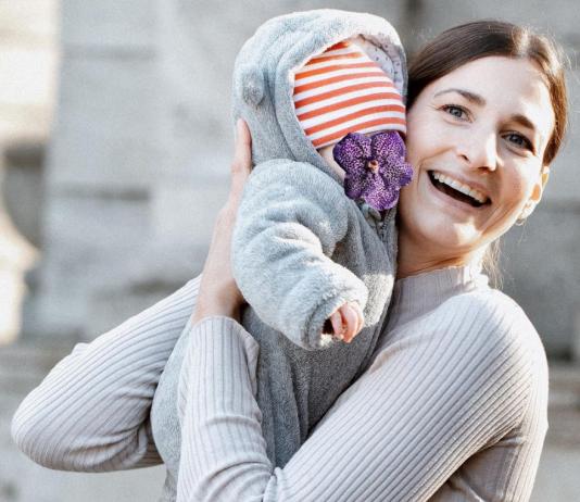 Das pure Glück: Melina und ihre Tochter.