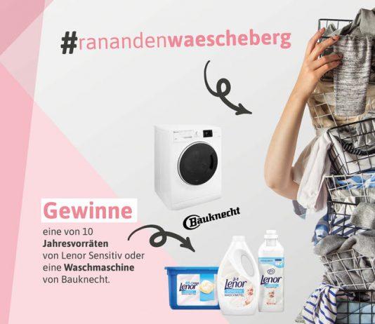 Macht mit bei unserer #echtewaschchallenge und gewinnt 1 von 10 Jahresvorräten an Lenor Sensitiv Waschmittel oder eine Waschmaschine von Bauknecht!