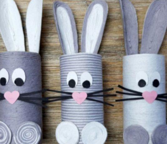Wir zeigen euch die schönsten Ideen fürs Osterhasen basteln mit Kindern.