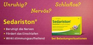 Sedariston beruhigt die Nerven
