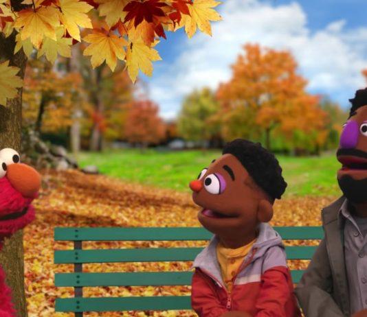 Elmo trifft auf die zwei neuen Bewohner der Sesamstraße.