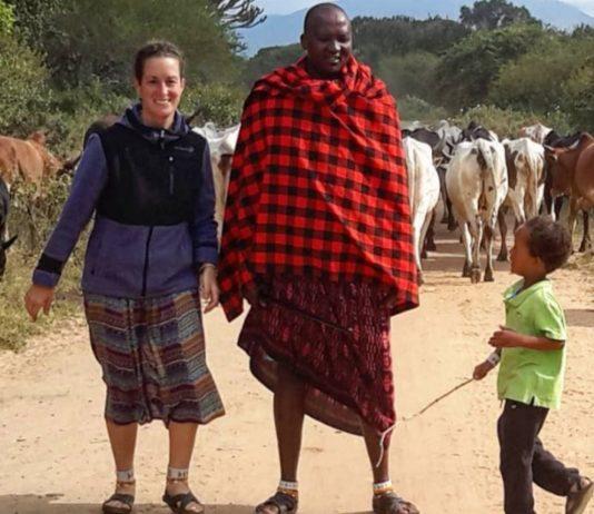 Stephanie und Sokoine sind seit 2011 ein Paar und haben einen Sohn zusammen. Foto: Instagram masai_story