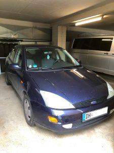Dieser blaue Ford Focus wurde sichergestellt.