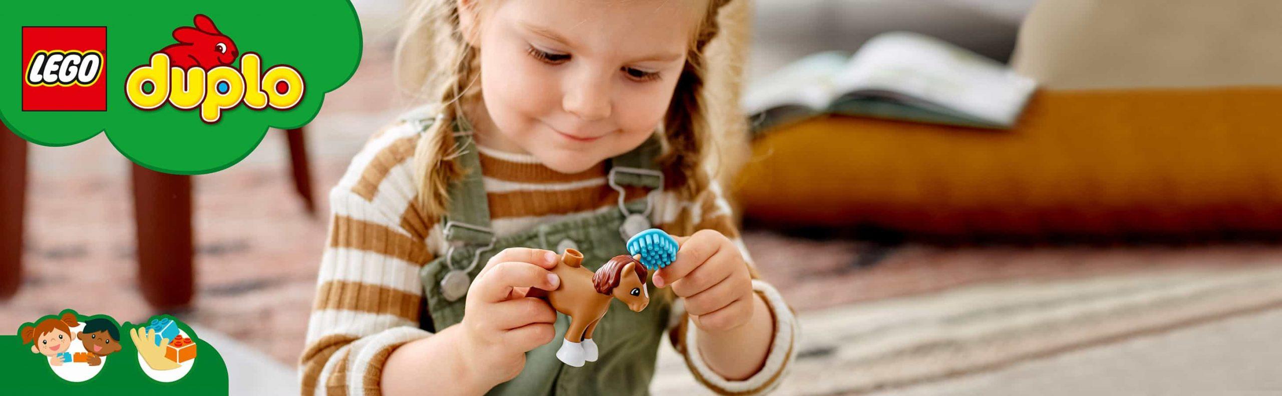 warten auf das Haustier: Mit dem LEGO DUPLO Bauernhof Set haben kleine Tierfreunde großen Spaß
