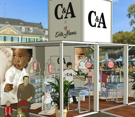 Gemeinsam mit C&A wird der Pop-up-Store in vier deutschen Städten zu finden sein.