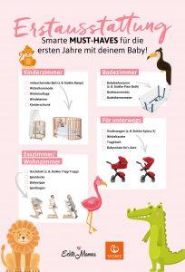Smarte Basics, die du brauchst: Babyzimmer-Ideen für die Erstausstattung.