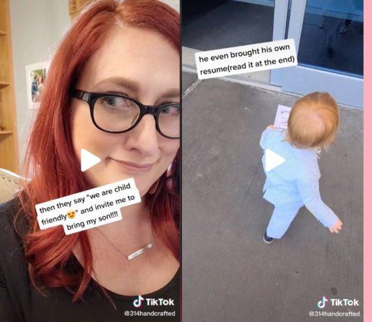 Maggie Mundwiller hatte keinen Babysitter – und nahm ihren Sohn zum Bewerbungsgespräch mit