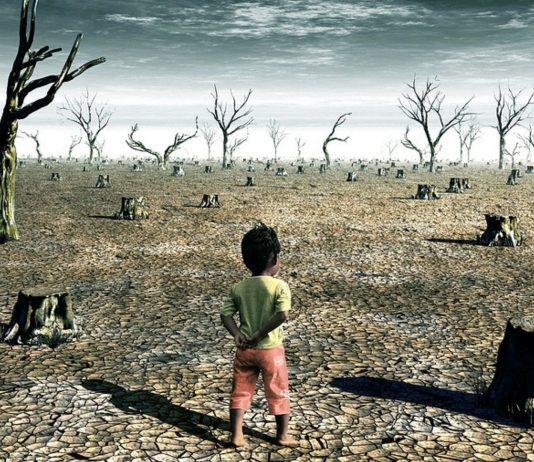 Diese Grafik simuliert, wie die Erde unserer Enkelkinder aussehen könnte.