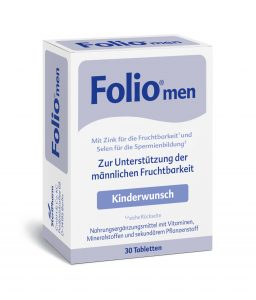 Folsäure für den Mann von Folio®men gibt's online oder in der Apotheke.